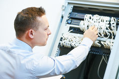 Network engineer at work Stock Photography