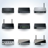 Network equipment icons Royalty Free Stock Photo