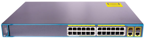 Network ethernet switch front view Stock Photos