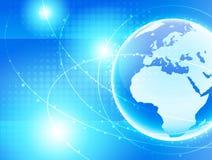 Network europe. Optical network earth.world europe Stock Photography