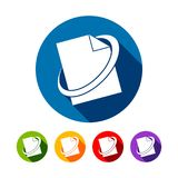 Network File Round Icons. Vector Graphic Design Royalty Free Stock Photos