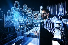 Network and finance concept Stock Photo