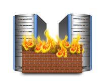 Network firewall royalty free illustration