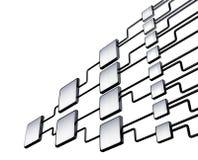 Network flowchart graph management Stock Image
