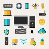 Network Gadget Set Stock Photography