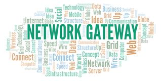 Network Gateway word cloud. Word cloud made with text only royalty free illustration