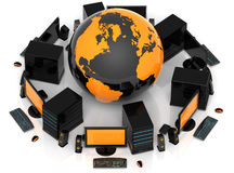Network Global Royalty Free Stock Photo