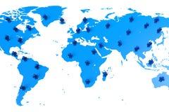 Network, global, communication, social media... Royalty Free Stock Photos