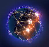Network Globe Royalty Free Stock Images