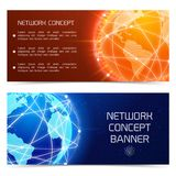 Network globe concept banners Stock Photography