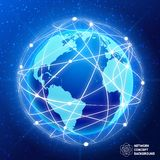 Network globe concept Stock Images