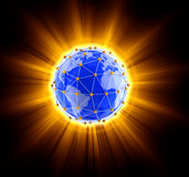 Network globe on light Royalty Free Stock Photo