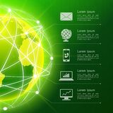 Network green background Royalty Free Stock Images
