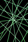 Network of green lines Stock Photography