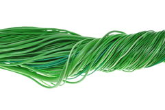 Network of green wires Stock Photography