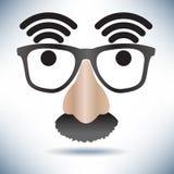 Network Hot Spot Icon Face Stock Photo