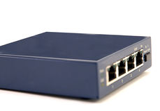 Network Hub. 4 port high speed Ethernetinternt hub royalty free stock photography