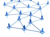 Network human connections Stock Photo