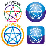 Network icon. S on the different background Stock Photography