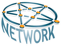 Network icon Stock Photography