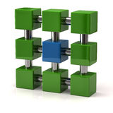 Network icon 3d Royalty Free Stock Images