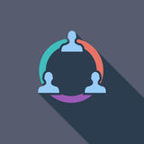 Network icon. Flat vector related icon with long shadow for web and mobile applications. It can be used as - logo, pictogram, icon, infographic element. Vector Royalty Free Stock Images