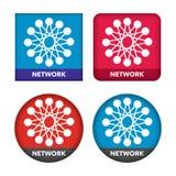 Network icon set Stock Photos