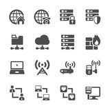 Network icon set, vector eps10 Royalty Free Stock Photography