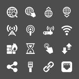 Network icon set, vector eps10 Stock Images