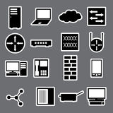 Network icon stickers collection eps10. Black network icon stickers collection eps10 Royalty Free Illustration