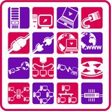 Network icons Stock Images