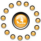 Network icons Royalty Free Stock Image
