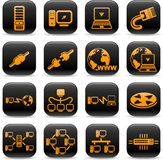 Network icons Royalty Free Stock Photography