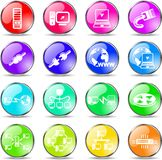 Network icons Royalty Free Stock Photos