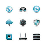 Network  icons. Azzuro series Royalty Free Stock Photography