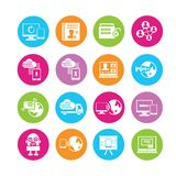 Network icons Stock Photography