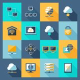 Network Icons Flat Stock Images