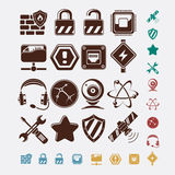 Network icons set Royalty Free Stock Photo
