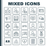 Network Icons Set. Collection Of Bullhorn, Phone Messaging, Team Organisation And Other Elements. Also Includes Symbols. Network Icons Set. Collection Of vector illustration