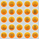 Network Icons Set. Collection Of Web Profile, Team Organisation, Mailbox And Other Elements. Also Includes Symbols Such. Network Icons Set. Collection Of Web Royalty Free Stock Image