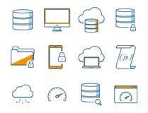 Network Icons Set Stock Image