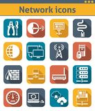 Network Icons Set Royalty Free Stock Photography