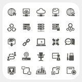 Network icons set Royalty Free Stock Photos