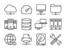 Network icons set Stock Images