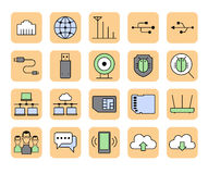 Network icons Royalty Free Stock Photo