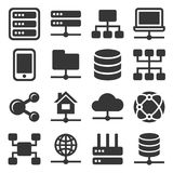 Network Icons Set Royalty Free Stock Images