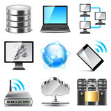 Network icons vector set Stock Photo