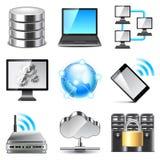 Network icons vector set Stock Photo