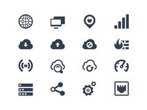 Network icons. Network and wireless icons set Royalty Free Stock Image