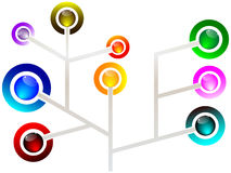 Network illustration Stock Images